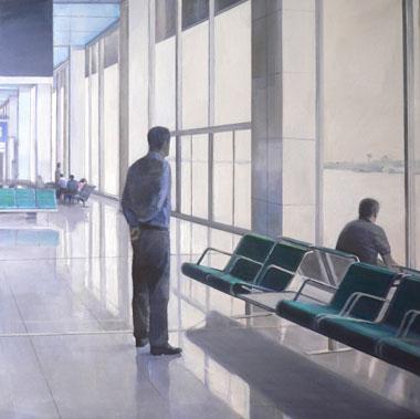 Federico Granell, Orly, óleo : lienzo, 100x100, 2006