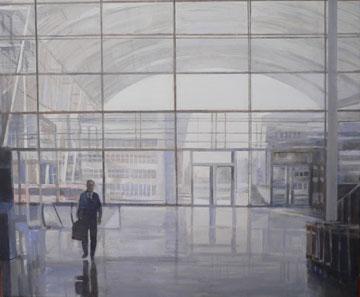 Federico Granell, Aeropuerto de Munich, óleo : lienzo, 50 x 60, 2006