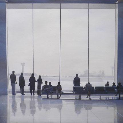 Federico Granell, Orly III, óleo :lienzo, 100x100, 2007